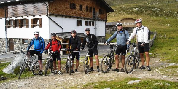 Ankunft an der Sesvennahütte nach dem Val d Uina