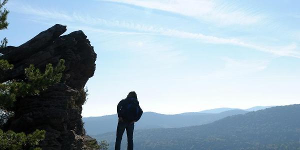 Auf dem Gipfel des Rötzenberg