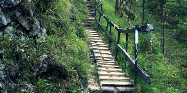stufen - überall und durchgehend :)