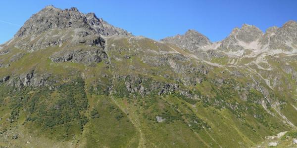 Bei der Jamtalhütte - Blick zur Getschnerscharte und ins Jamtal