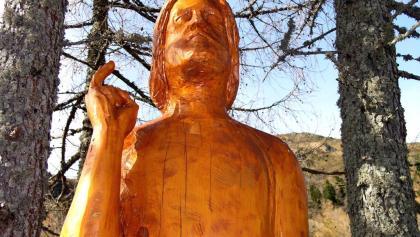 Christusstatue am Weg der Religionen um 1595 m