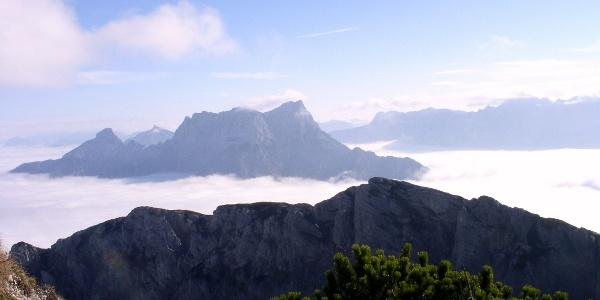 Großer und Kleiner Buchstein überm Nebelmeer