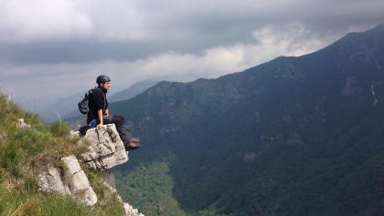 Pause nach der Via Ferrata Monte Due Mani