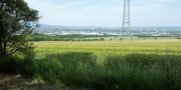 Blick auf Kasseler Becken und Industriegebiet Waldau