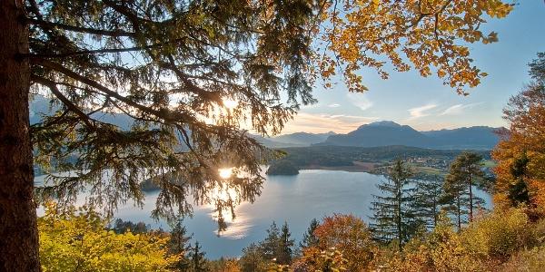 Taborhöhe - Blick auf den Faaker See