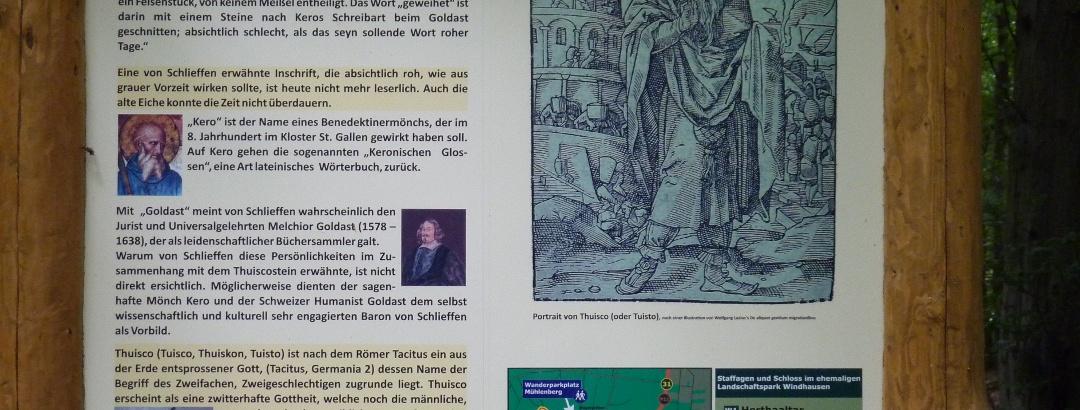 Info-Tafel Nähe Gut Windhausen
