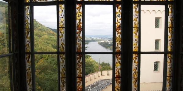 Blick auf den Rhein von Schloss Stolzenfels