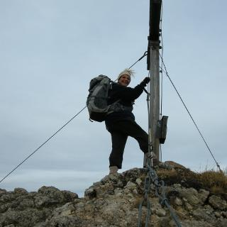 Auf dem Gipfel des Brunnenkopfes
