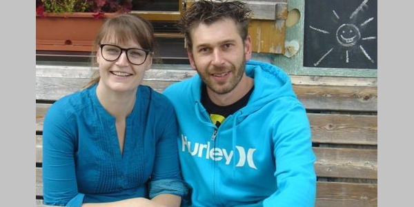 Die Hüttenpächter Iris und Simon