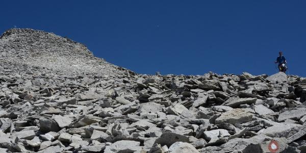 Durch die Blockwüste zieht ein gut angelegter und markierter Weg hinauf zum Fernerköpfl.
