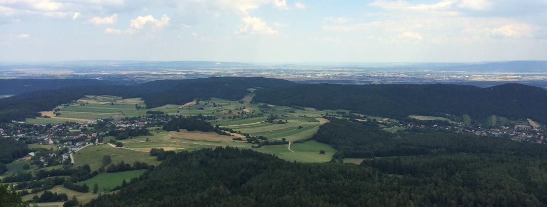 Ausblick vom Herrgottschnitzerhaus
