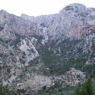 Blick in die Tiefe des Barranc de Biniaraix.