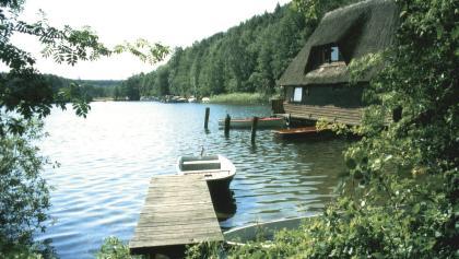 Wir erfreuen uns an der Seenlandschaft.