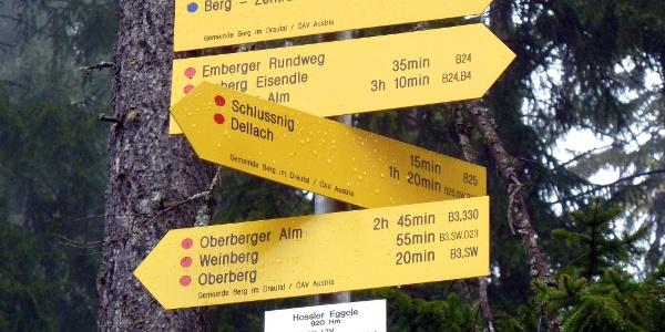 Wandertafeln unterwegs