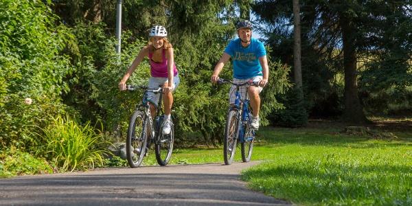Radfahrer in Bad Grönenbach