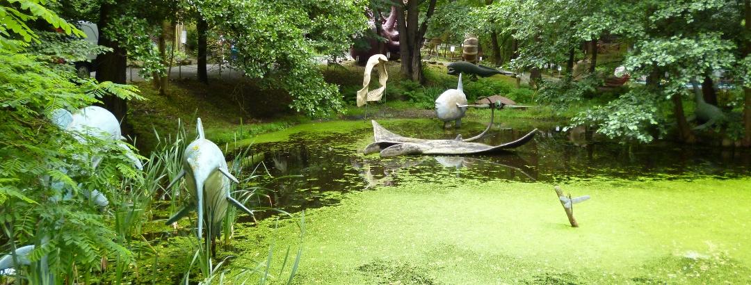 Wasserlandschaft im Urzeitpark
