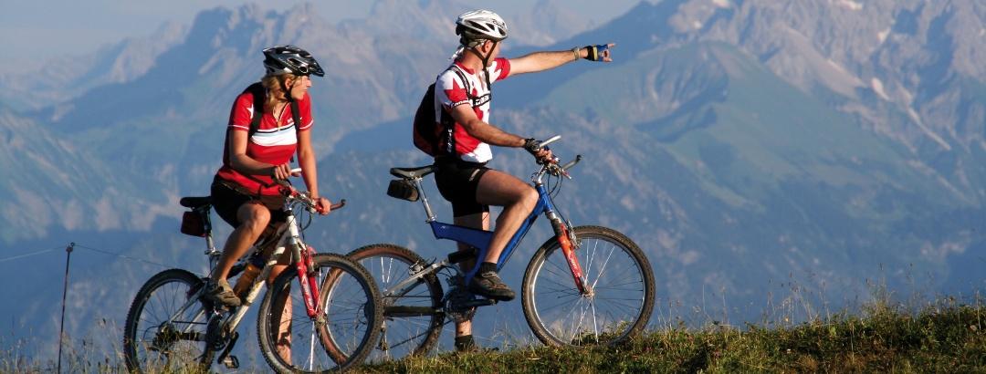 Bike, Berge, Leidenschaft - Mountainbiken.