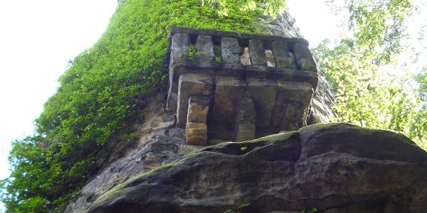 Aussichtsturm auf dem Pfaffensteinplateau