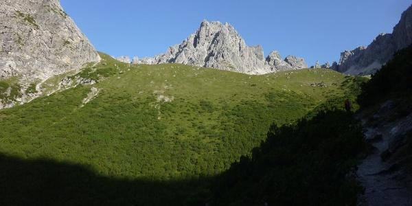 Die Steinkarspitze mit seinem markanten Pfeiler