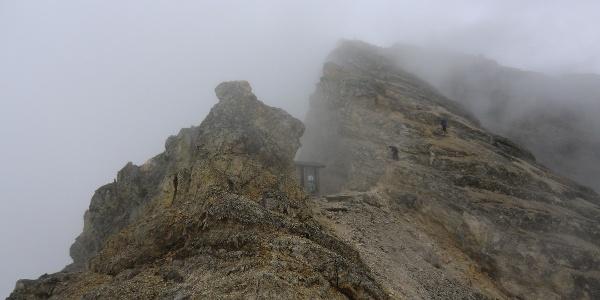 Am Schlauchkarsattel (2639 m) kurz vor der Birkkarspitze (2749 m)