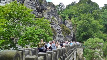 Basteibrücke, das Wahrzeichen der Sächsischen Schweiz
