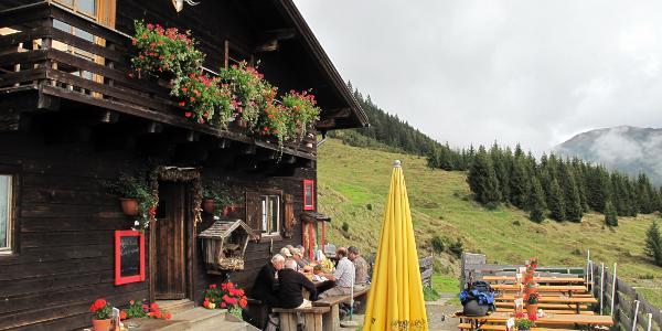 Moosalm - Adamhütte 1533 m  blick zum Hundstein
