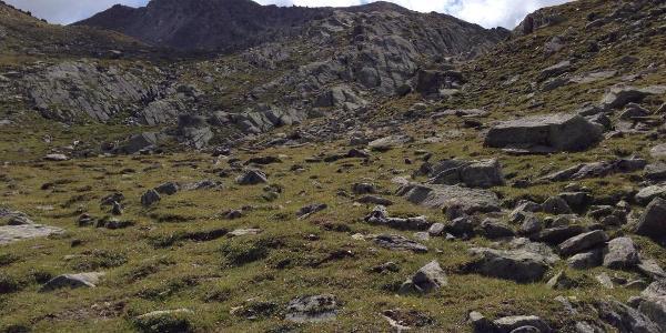 Abstieg von Vermoispitze zur Penaud Alm