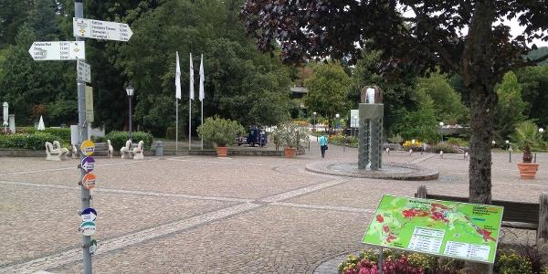 Schlossplatz Badenweiler Startpunkt der Route