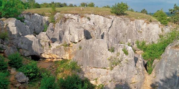 Kalksteinschlucht bei Nismes