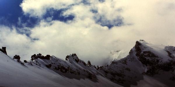 Verbindungsgrat Gefr. Wandspitze bei der Querung vom Kees 2690 m