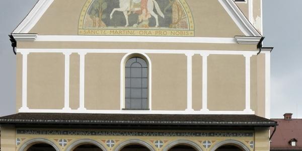 Westgiebel der Klosterkirche St. Martin