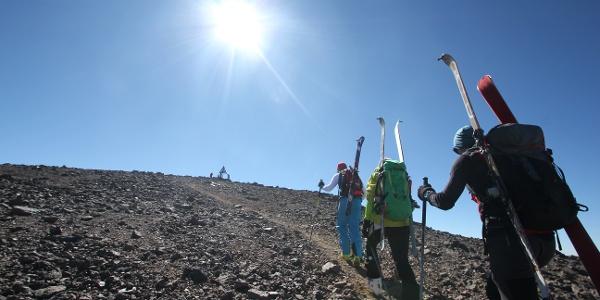 Kurz vor dem Gipfel des Toubkal.