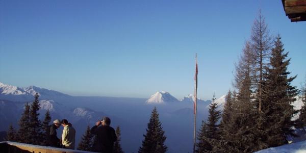 Aussicht von der Pleisenhütte.