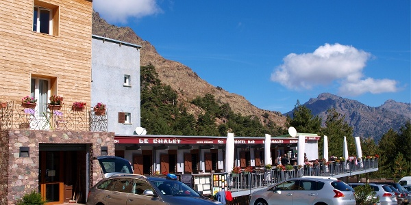 "Hotel ""Le Chalet"" in Haute-Asco 1422m"