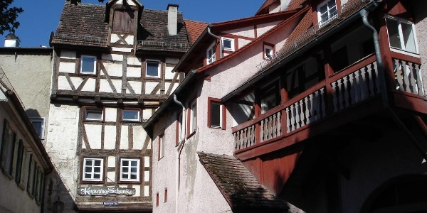 Das Kapuzinertor im Stadtteil Ehingen stammt aus dem 14. Jh.