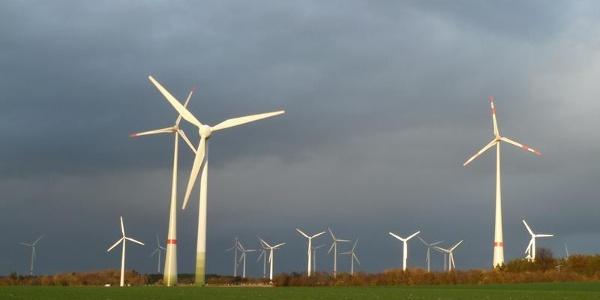 Windkraftanlagen auf dem Holterfeld