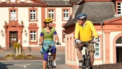 Auf dem Lahnradweg in Weilburg