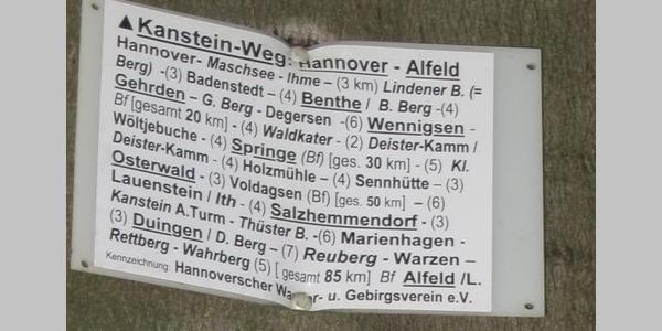 Wandertafel am Helleberg