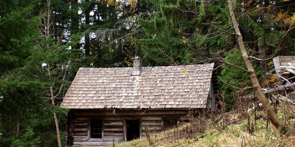 Jagdhütte 1192m, verfallen.
