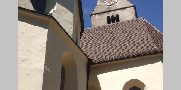 Die Wallfahrtskirche St. Stephan in Oberthingau.
