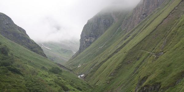 Wegspur zur Clarahütte Umbaltal