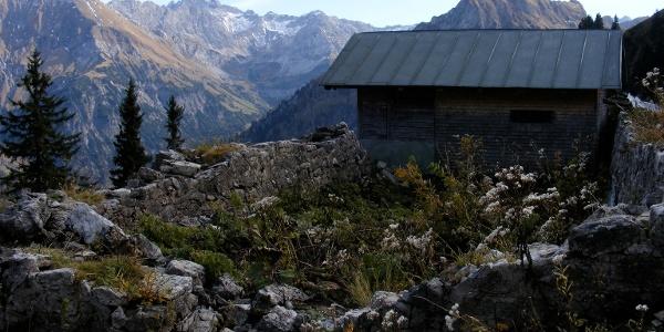 Die Gündles-Alpe auf 1621 m.