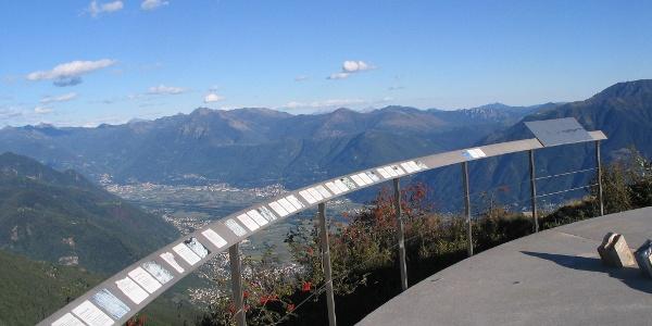 Auf der Gipfelplattform der Cimetta.
