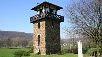 Der erste römische Wachturm am Anfang des Limes in Rheinbrohl.
