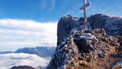 Gipfelkreuz bei der Himmelpforthütte 1735m