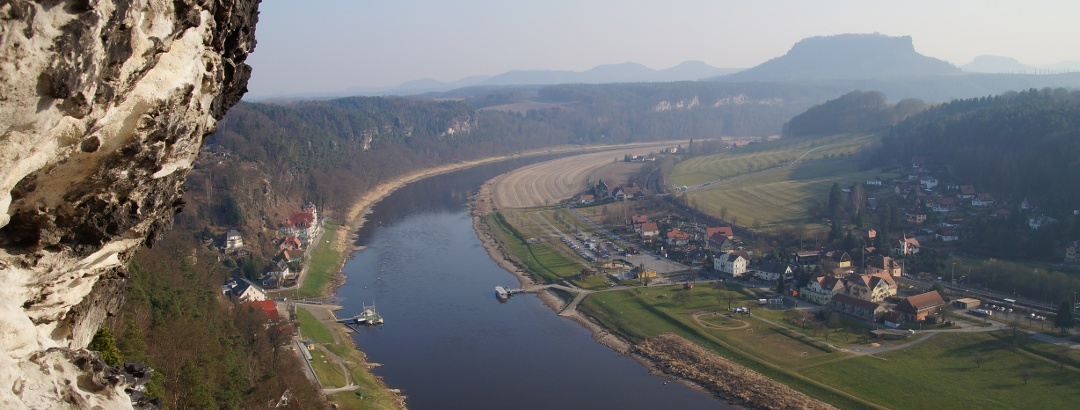 The Elbe Cycle Path in the Elbe Sandstone Mountains