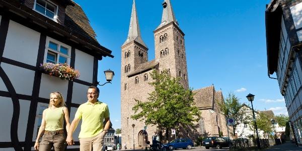Die Kilianikirche in der Altstadt von Höxter