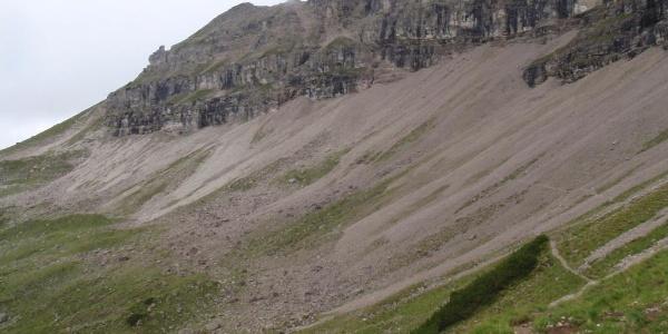 Das Rosskar unterhalb der Süd-Ost Wand des Hochvogels