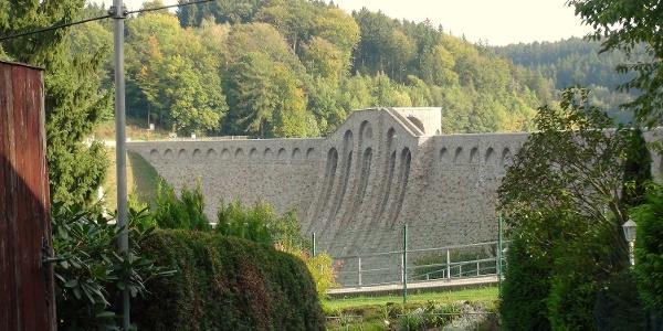 Staumauer Talsperre Klingenberg