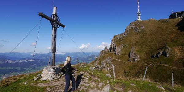 Kitzbüheler Horn - Gipfelkreuz und Sendemast